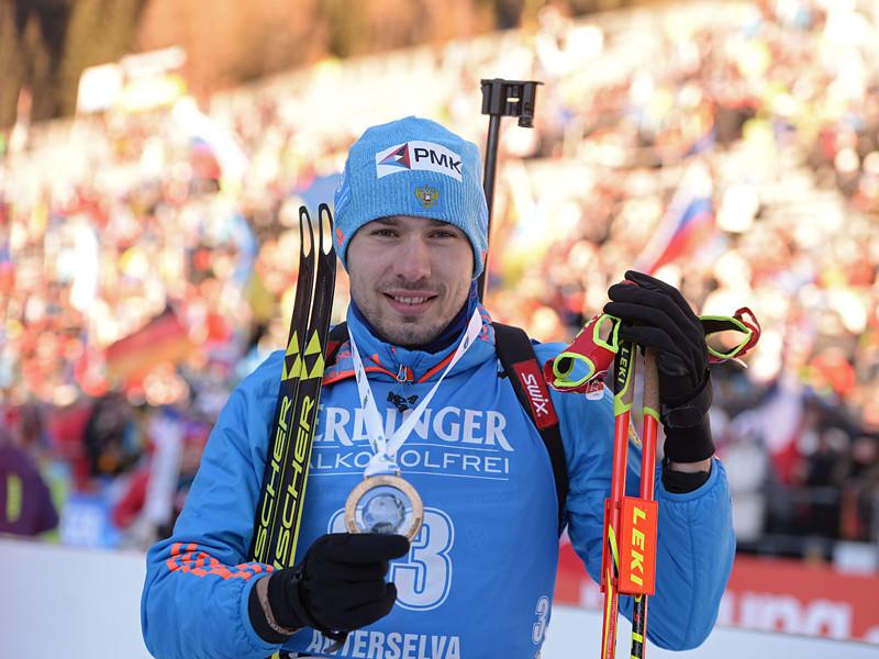 Российский биатлонист Антон Шипулин финишировал третьим в масс-старте на шестом этапе Кубка мира в итальянской Антерсельве