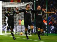 """Футболисты лондонского """"Челси"""" в матче 21-го тура чемпионата Англии в гостях со счетом 3:0 разгромили """"Лестер"""""""
