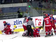 Хоккеисток сборной РФ дисквалифицировали за драку на чемпионате мира (ВИДЕО)