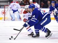 Нападающий Никита Щербак забросил шайбу в дебютном матче НХЛ