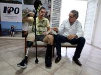 """Выживший в авиакатастрофе вратарь бразильского футбольного клуба """"Шапекоэнсе"""" Джексон Фольманн заявил, что хотел бы в будущем выступить на Паралимпийских играх"""