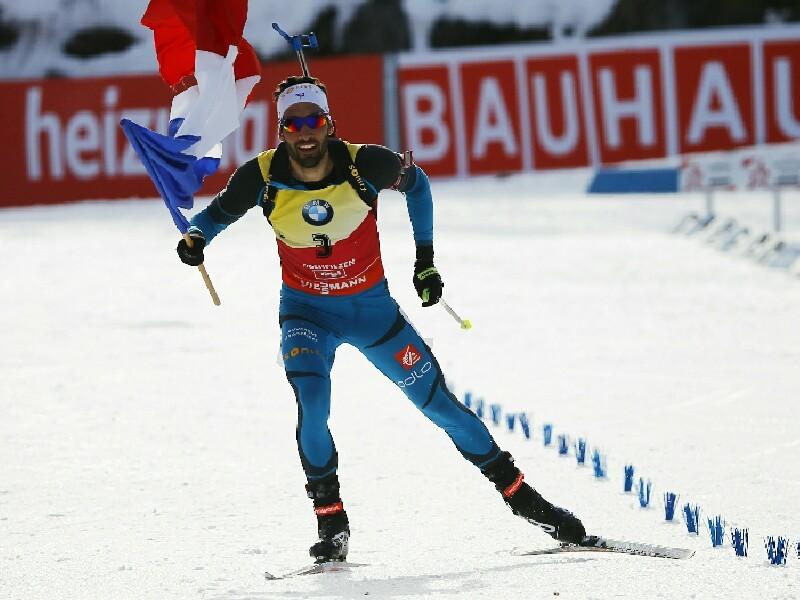 Французский биатлонист Мартен Фуркад победил в гонке преследования на чемпионате мира в австрийском Хохфильцене