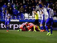 Фернандо Торрес едва не сломал шею в матче чемпионата Испании по футболу