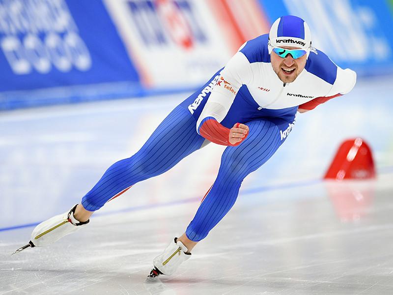 Российский конькобежец Денис Юсков занял второе место в общем зачете Кубка мира на дистанции 1500 метров