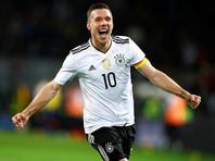 Лукас Подольски принес Германии победу над сборной Англии в своем прощальном матче