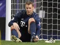 Мануэль Нойер выбыл до конца сезона из-за перелома ноги в матче Лиги чемпионов
