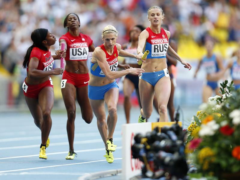 Женскую сборную России лишили золота ЧМ-2013 в эстафете 4х400 м