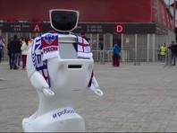 Робот по имени Алантим, созданный в Московском технологическом институте, предложил свою защиту британским болельщикам на чемпионате мира по футболу 2018 года в России
