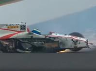Французский гонщик разбился на скорости 370 километров в час  (ВИДЕО)