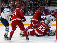 Хоккеисты сборной России победили финнов в матче за бронзовые награды чемпионата мира
