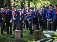 Российские хоккеисты возложили цветы к могилам советских солдат в Германии