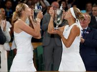 Россиянки Макарова и Веснина впервые выиграли Уимблдон в парном разряде
