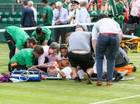Травмированная американка перепугала зрителей Уимблдона криками о помощи
