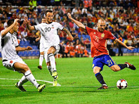 В Аликанте футболисты сборной Испании разгромили со счетом 3:0 команду Албании в матче отборочного этапа чемпионата мира-2018 и обеспечили себе путевку в финальную часть турнира, которая пройдет в России