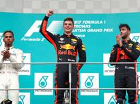 "Гонщик ""Формулы-1"" Макс Ферстаппен выиграл Гран-при Малайзии"