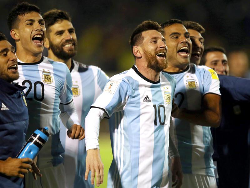 Сборная Аргентины попала на ЧМ-2018, обыграв 10 октября сборную Эквадора