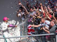 """Пилот Mercedes Льюис Хэмилтон одержал девятую победу в сезоне """"Формулы-1"""""""