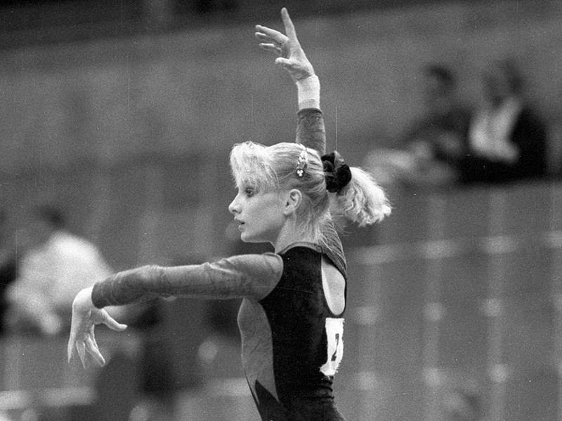 Двукратная олимпийская чемпионка в спортивной гимнастике украинка Татьяна Гуцу