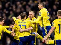 Шведские футболисты победили итальянцев в первом стыковом матче