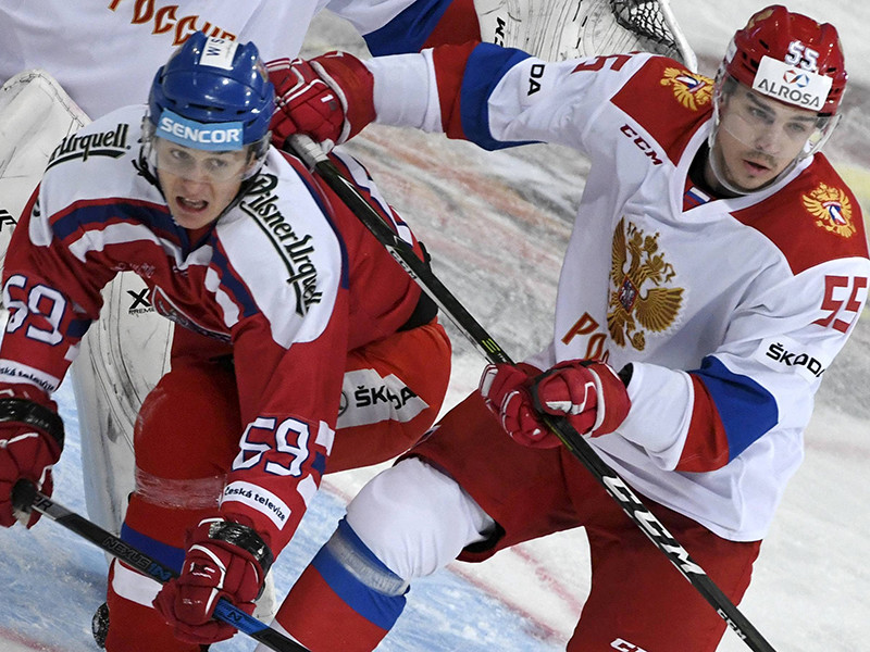 Три шайбы Григоренко помогли российским хоккеистам победить чехов