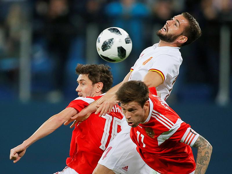 Сборная России по футболу разошлась миром с испанцами в товарищеском матче