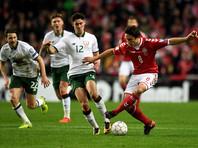 Футболисты Дании и Ирландии обошлись без голов в первом матче за право сыграть на ЧМ-2018