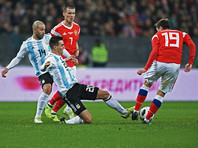 Футболисты сборной России уступили аргентинцам в товарищеском матче, пропустив мяч в концовке встречи