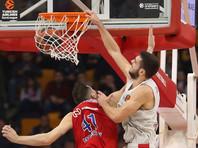 Московский ЦСКА потерпел третье поражение в баскетбольной Евролиге