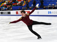 Фигурист Дмитрий Алиев идет вторым после короткой программы чемпионата Европы