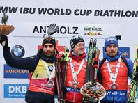 Биатлонист Антон Шипулин финишировал третьим на этапе Кубка мира