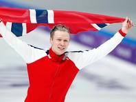 Конькобежец Ховар Лорентсен из Норвегии победил в Пхенчхане с олимпийским рекордом