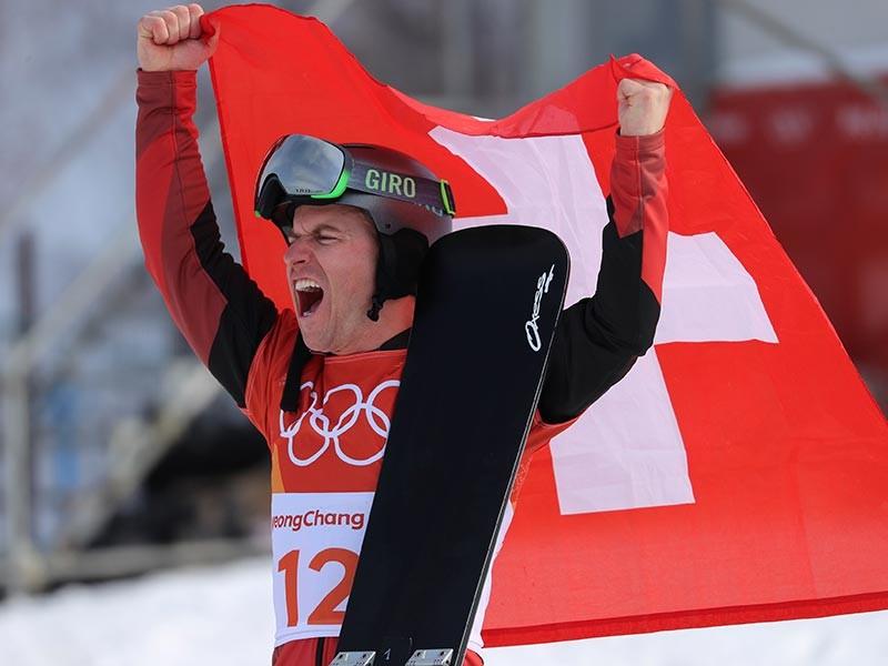 Сноубордист Гальмарини из Швейцарии победил в параллельном гигантском слаломе Олимпиады-2018