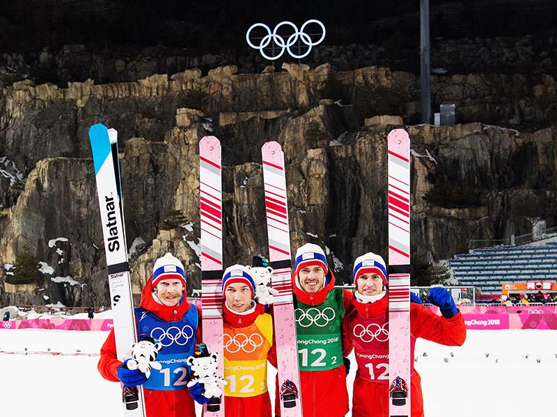 Сборная Норвегии завоевала олимпийское золото в прыжках на лыжах с трамплина