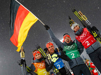Сборная Германии выиграла командные соревнования в лыжном двоеборье на Олимпийских играх в Пхенчхане