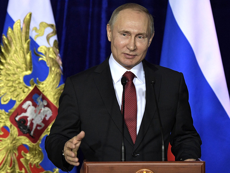 Президент РФ Владимир Путин поздравил российских хоккеистов с победой над сборной Германии в финальном матче олимпийского турнира