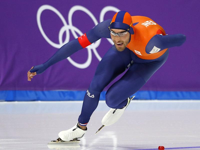 Голландский конькобежец Кьелд Нейс завоевал золото на дистанции 1500 метров на зимних Олимпийских играх в южнокорейском Пхенчхане