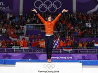 Голландка Йорин Тер Морс завоевала золото Олимпиады в Пхенчхане в состязаниях конькобежцев на дистанции 1 000 метров