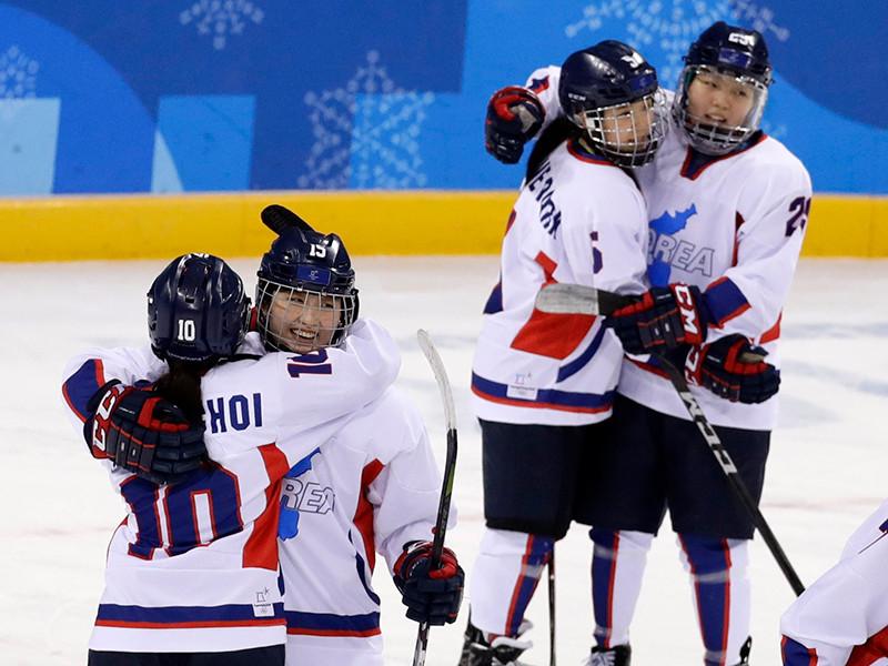 Объединенные корейские хоккеистки заняли последнее место на Олимпиаде
