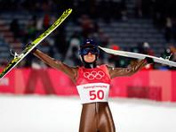 Поляк Камил Стох выиграл золотую медаль в прыжках на лыжах с большого трамплина на Олимпийских играх в южнокорейском Пхенчхане, набрав по сумме двух прыжков 285,7 балла