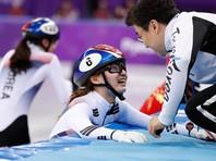 Женская сборная Южной Кореи по шорт-треку победила в эстафете на домашней Олимпиаде