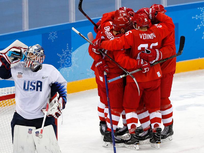 Российские хоккеисты уверенно победили американцев и вышли в четвертьфинал Олимпиады-2018