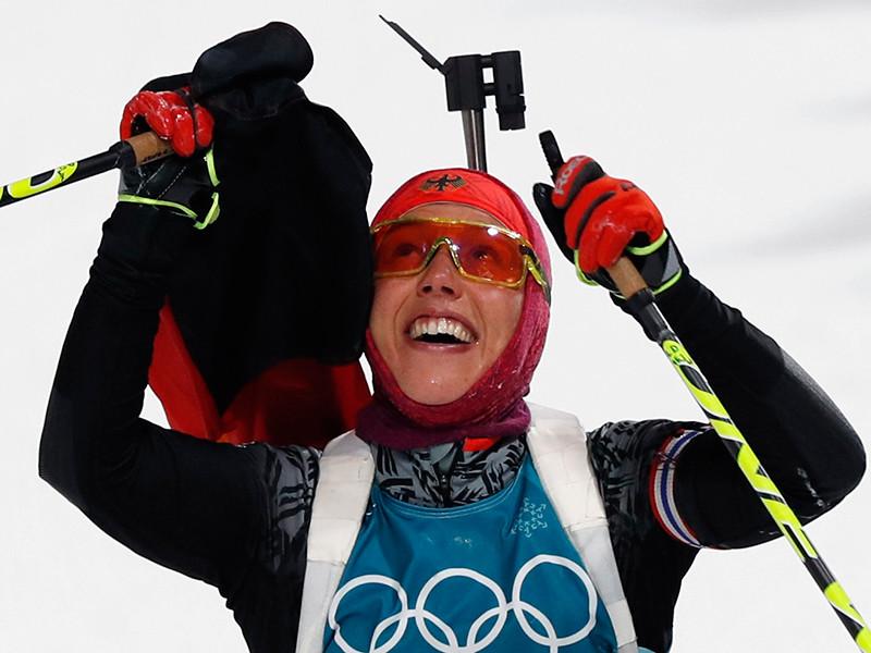 Немецкая биатлонистка Лаура Дальмайер стала двукратной олимпийской чемпионкой Пхенчхана