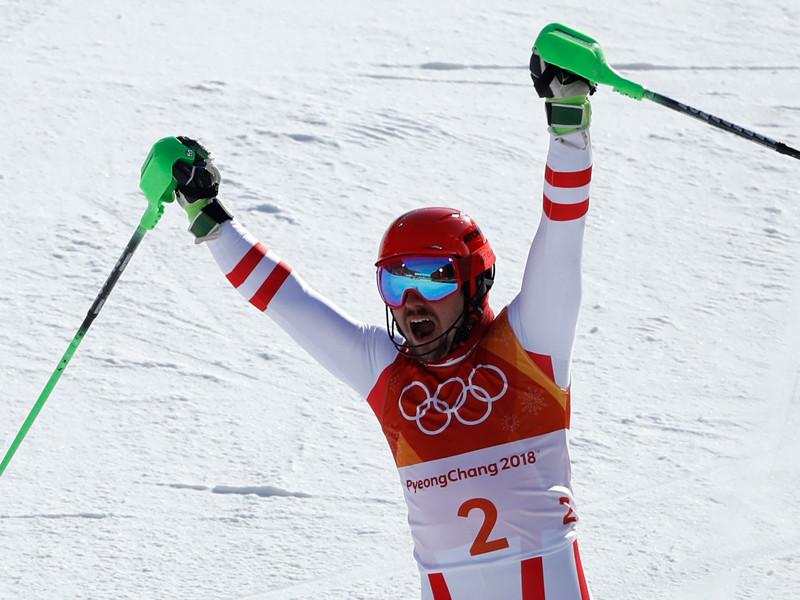 Австрийский горнолыжник Марсель Хиршер - олимпийский чемпион в альпийской комбинации