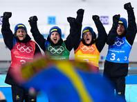 Шведские биатлонисты впервые выиграли эстафету на Олимпиаде