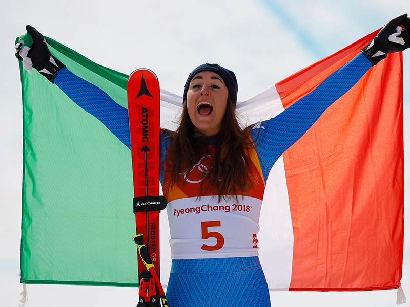 Итальянка София Годжа стала олимпийской чемпионкой в скоростном спуске