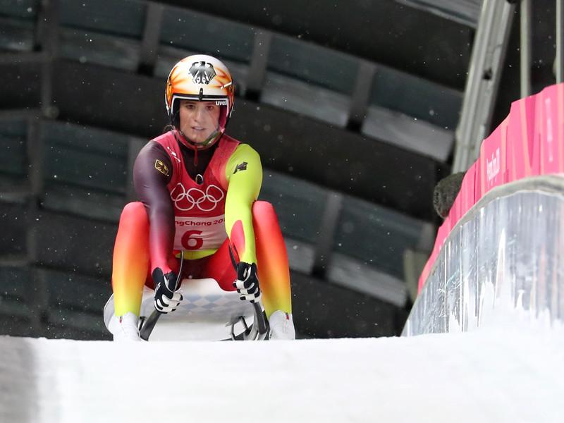 Саночница Натали Гайзенбергер удержала Германию в лидерах Олимпиады-2018