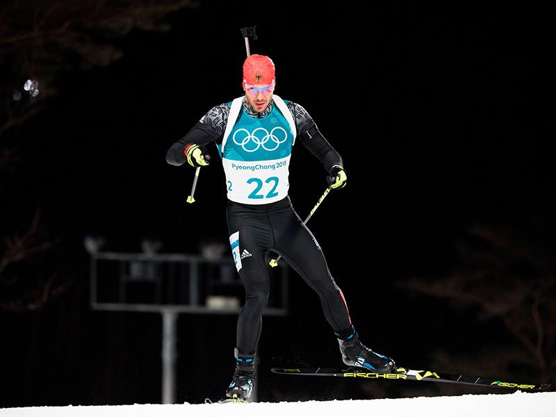 Биатлонист Арнд Пайффер из Германии победил в олимпийском спринте