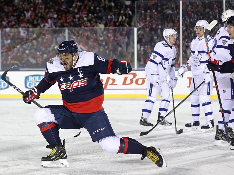 """В матче регулярного чемпионата НХЛ, который состоялся на открытом воздухе в Аннаполисе (штат Мэриленд), """"Вашингтон"""" победил """"Торонто"""" со счетом 5:2"""