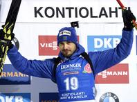 Российский биатлонист Антон Шипулин выиграл бронзу Кубка мира