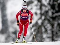 Белорусская биатлонистка Дарья Домрачева выиграла последний спринт сезона